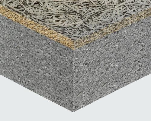Roof insulating sandwich panel / for walls / wood fiber facing / expanded polystyrene core CELENIT STYR CELENIT