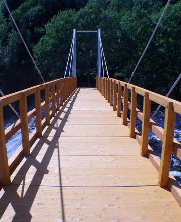 wooden walkway / precast / pedestrian / fixed
