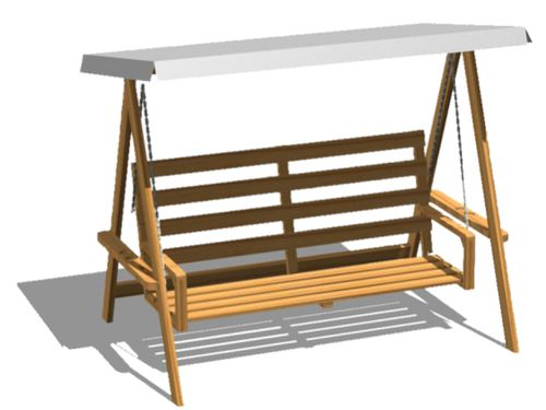 wooden garden swing seat / self-supporting