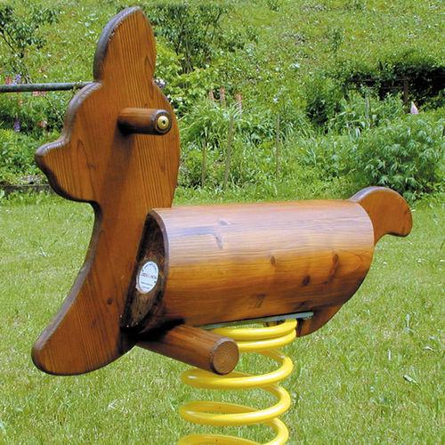 solid wood spring rocker / animals / 1-seat