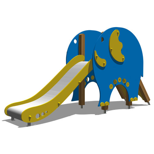 upright slide / for playgrounds
