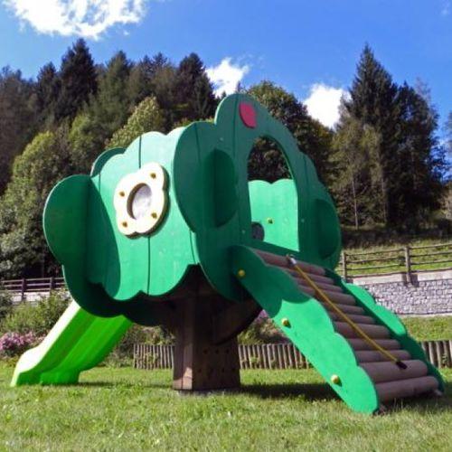 playground play structure / wooden / galvanized steel
