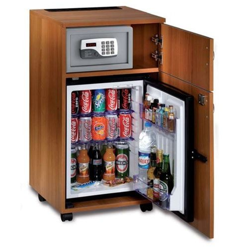 contemporary mini bar cabinet / stained wood / home