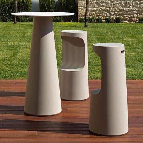 contemporary high bar table / polyethylene / outdoor / white