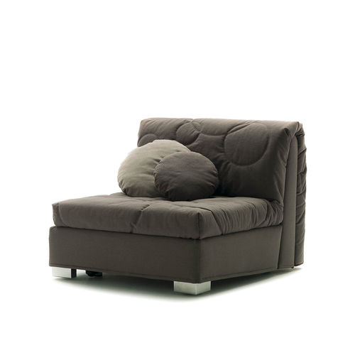 contemporary fireside chair / cotton / bed