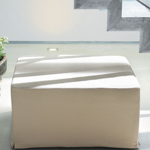 contemporary ottoman / fabric / with removable cover / bed