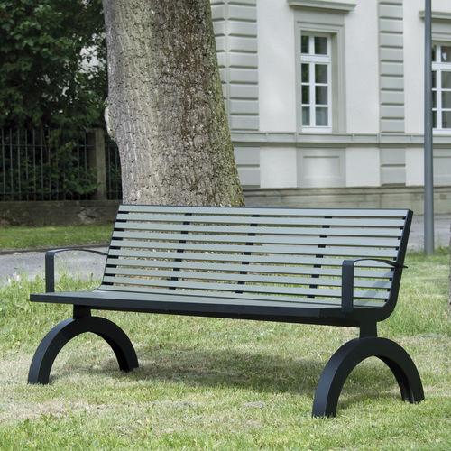 Public bench / traditional / aluminum / stainless steel COMFONY 140 BENKERT BÄNKE