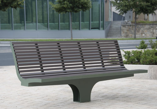 Public bench / contemporary / aluminum / stainless steel COMFONY S20 BENKERT BÄNKE