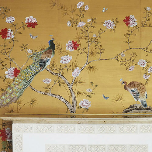traditional wallpaper / silk / floral / nature pattern