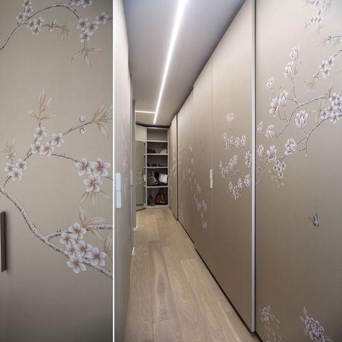 contemporary wallpaper / floral / handmade
