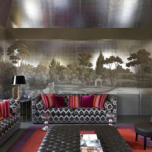 traditional wallpaper / silk / nature pattern / panoramic