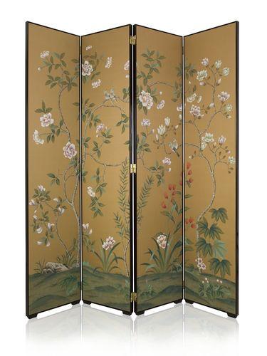 Traditional screen / textile IMPERIAL GARDEN Misha handmadewallpaper