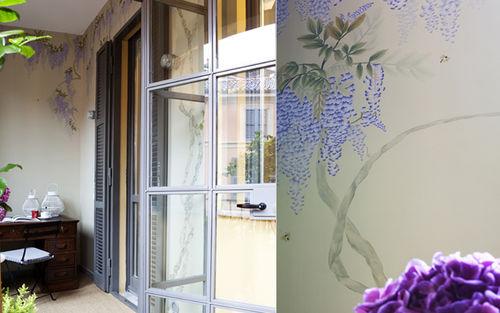 Traditional wallpaper / silk / patterned / handmade WISTERIA Misha handmadewallpaper