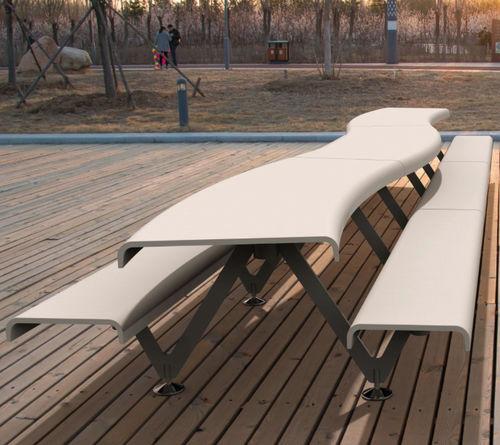 original design bench and table set - METALCO
