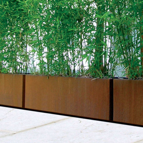 metal planter / rectangular / contemporary / for public spaces