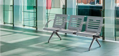 steel beam chair / 3-seater / indoor