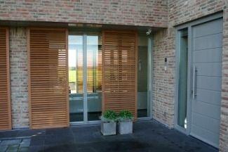 Sliding shutters / wooden / door / insulated - WRC - Norman Europe