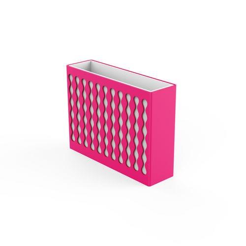 galvanized steel planter / rectangular / contemporary / for public spaces