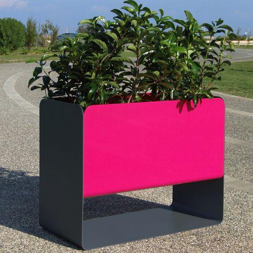 stainless steel garden pot / rectangular