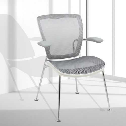 Contemporary visitor chair / with armrests / upholstered / fabric OXO Nightingale Corp