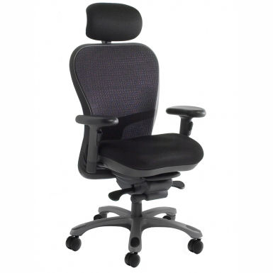 Contemporary office armchair / fabric / leather / swivel CXO : 6200D TI Nightingale Corp