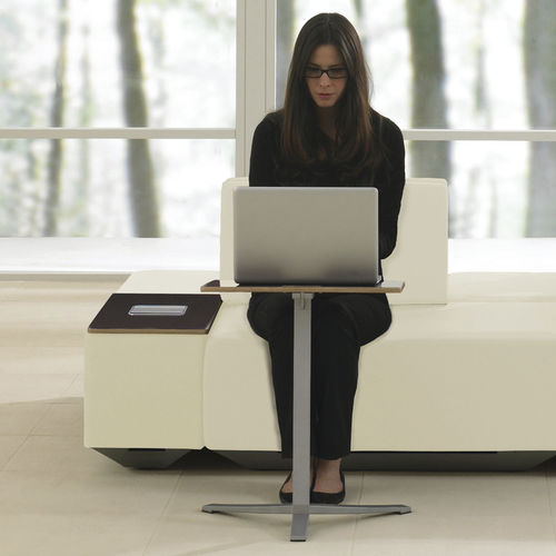 Contemporary computer table / wooden / round / square TEKNION DNA Teknion