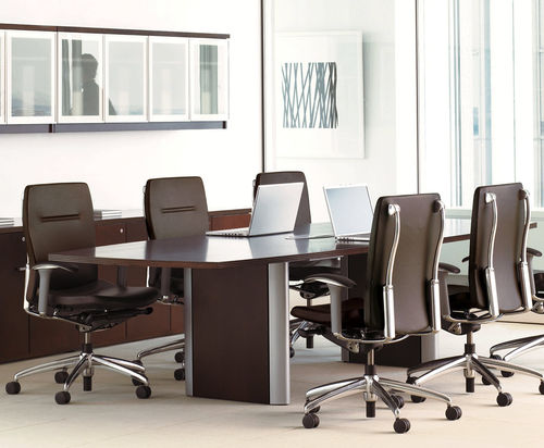 Contemporary boardroom table / wooden / rectangular / for public buildings EXPANSION Teknion