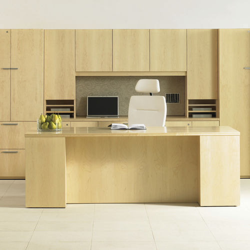 Commercial desk and storage set EXPANSION WOOD Teknion