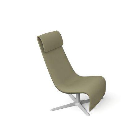 contemporary fireside chair / fabric / aluminum / star base