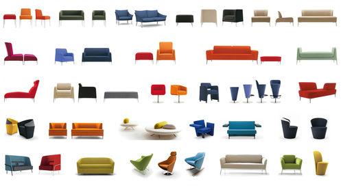 contemporary sofa / fabric / commercial