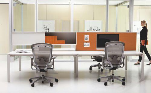 workstation desk / wooden / metal / contemporary