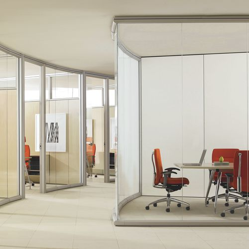 Fixed partition / glazed / professional / for offices OPTOS Teknion