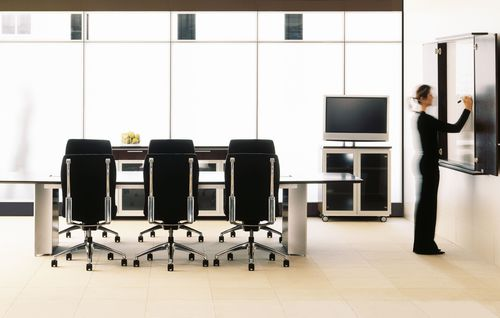 Contemporary boardroom table / MDF / laminate / rectangular AUDIENCE Teknion
