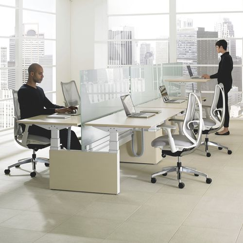Workstation desk / wood veneer / laminate / contemporary LIVELLO Teknion