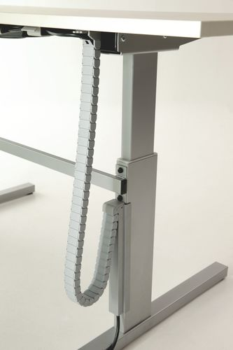 plastic cable trunking / desk / commercial / vertical
