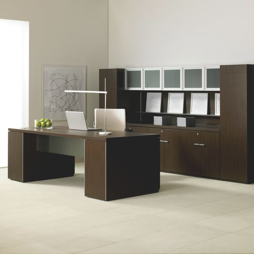 Commercial desk and storage set EXPANSION CASEGOODS Teknion