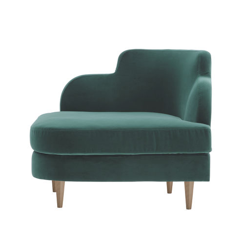 traditional armchair / fabric / with armrests / green