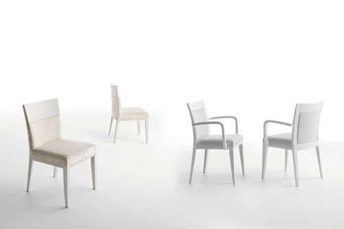 contemporary chair / fabric / wooden / commercial