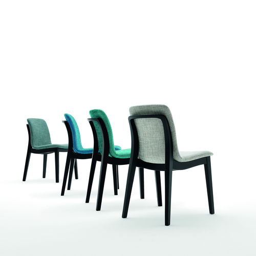 contemporary chair / upholstered / fabric / commercial