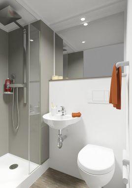 contemporary bathroom / ceramic / precast
