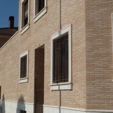 ceramic cladding brick / for facades / rustic