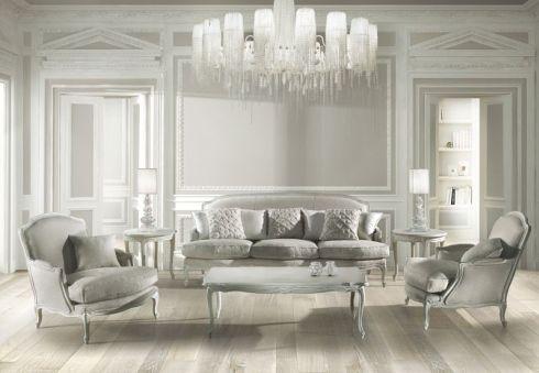classic sofa / fabric / 3-seater / multi-color