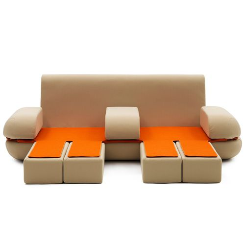 Modular Sofa / Bed / Contemporary / Polyester. DYNAMIC LIFE Campeggi