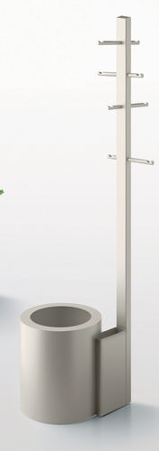 Floor coat rack / contemporary / aluminum / with integrated umbrella stand GRAVITY HANG by Arik Levy Danese