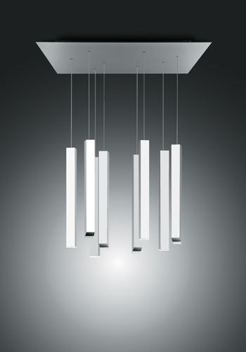 contemporary chandelier / aluminum / methacrylate / LED