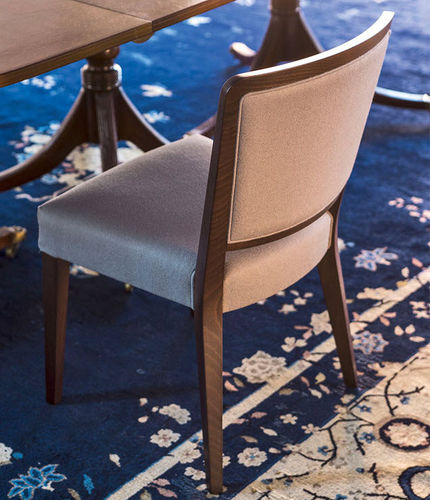contemporary chair / upholstered / standard base / FSC-certified