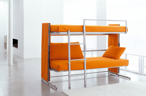 sofa bed / contemporary / metal / 2-seater