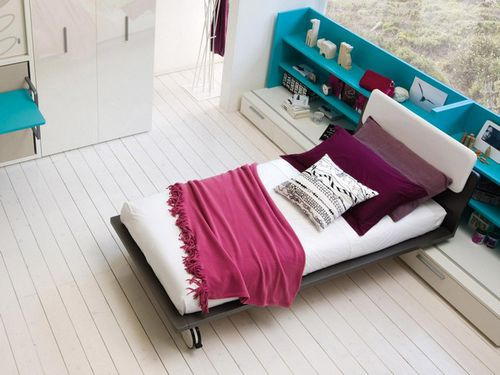 single bed / contemporary / child's / on casters