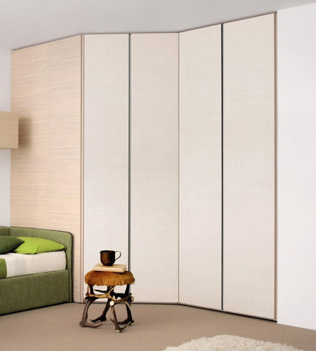 corner wardrobe / contemporary / wooden / with swing doors