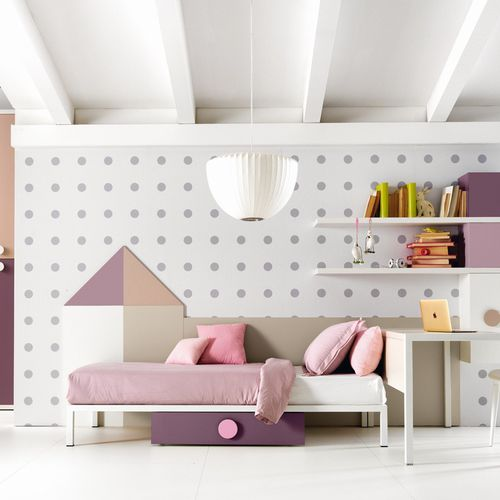 white children's bedroom furniture set / pink / wooden / girl's